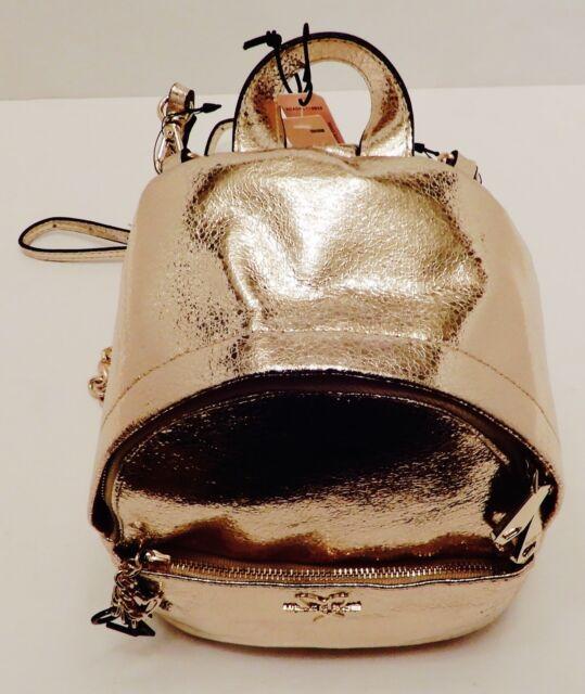 b20698db90 Victoria s Secret Metallic Crackle Gold Mini City Backpack Purse Bag Love