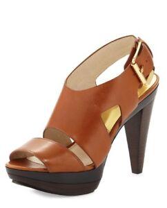 d1e5c17597c5 Gorgeous Michael Kors Carla Platform Heel in Carmel Luggage Leather ...