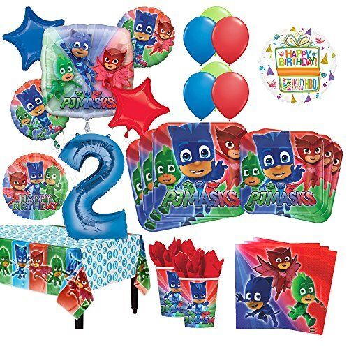 PJ Masks 2nd Birthday Party Supplies 8 Guest Kit For Sale Online