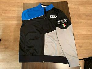 a435eccf245 Vintage FILA Sports Italia Jacket Blue   White Full Zip Mens Size ...