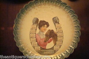 1910 A C Ober LIMOGES CHINA Co./Sterling China/,calendar plate[boxcal1]