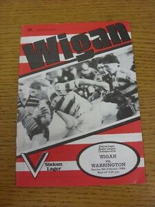 05021984 Rugby League Programme Wigan v Warrington - <span itemprop=availableAtOrFrom>Birmingham, United Kingdom</span> - Returns accepted within 30 days after the item is delivered, if goods not as described. Buyer assumes responibilty for return proof of postage and costs. Most purchases from business s - Birmingham, United Kingdom