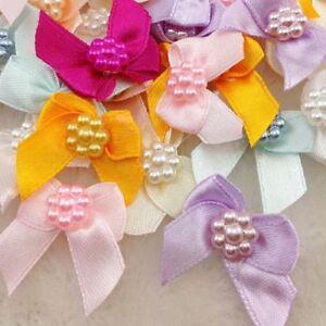 30pcs-Mini-Satin-Ribbon-Flowers-Bows-Gift-Craft-Wedding-Decoration-ornament-B262