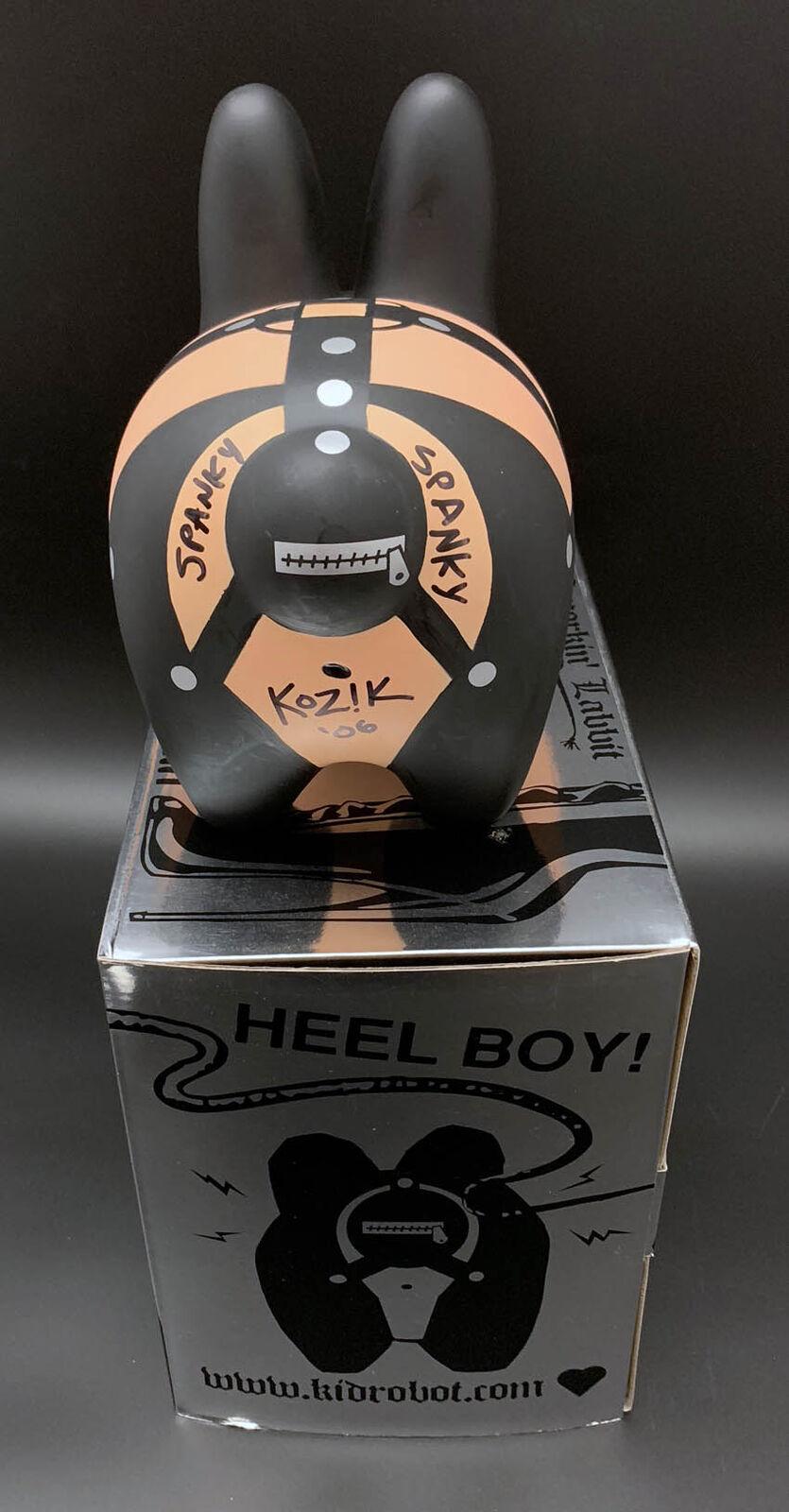 Frank Kozik SIGNED SIGNED SIGNED Kidrobot Bondage Labbit AUTOGRAPHED New in Box Vinyl 56f308