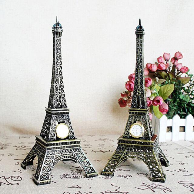 Mini Paris Eiffel Tower Model Desk Figurine Statue Crafts Souvenir Alloy FT