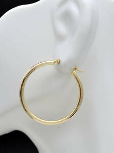 14k-Solid-Yellow-Gold-Large-Plain-Round-hoop-Earrings-1-1-4-039-039-30mm-x2MM-1-4GR