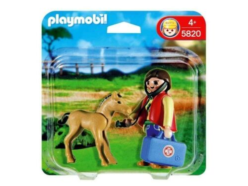 Playmobil 5820 - Vet with Horse Foal [2 Figures & accessories]