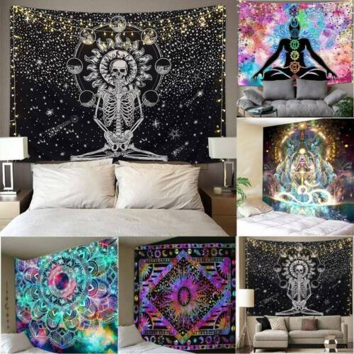Psychedelic Mandala Tapestry Hippie Room Wall Hanging Throw Tapestry Home Decor