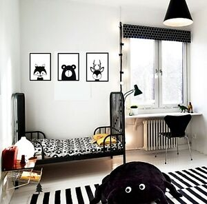 Image Is Loading Animals Wall Stickers Set Of Scandinavian Woodland Style