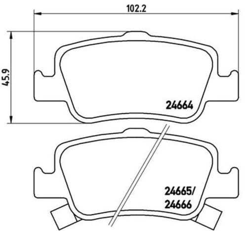 Bremsbelagsatz Scheibenbremse BREMBO P 83 080