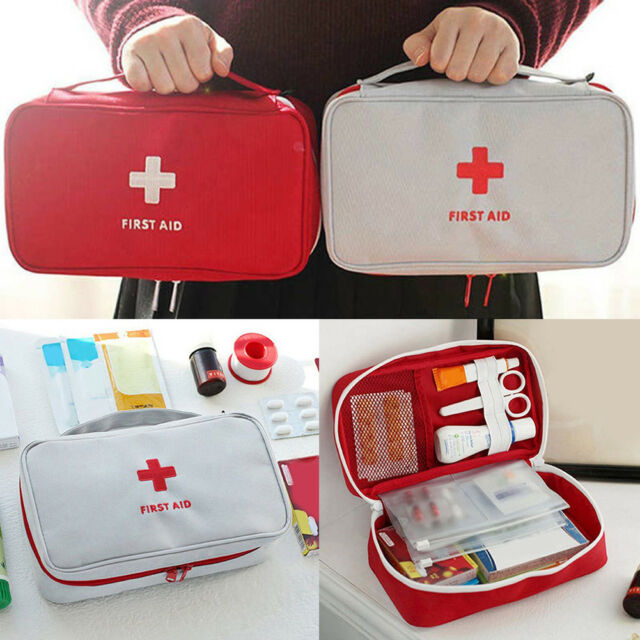 First Aid Kit Bag Emergency Medical Survival Treatment Rescue Empty Box Eyeful