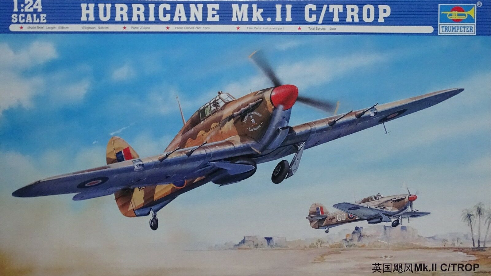 TRUMPETER® 02416 Hurricane Mk.IIC   TROP in 1 24  | Haben Wir Lob Von Kunden Gewonnen