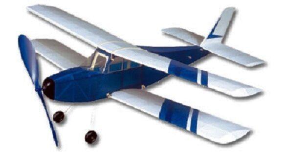 Aries  West Wings Rubber Powered Sport Bi-Plane Balsa Wood Model  Plane no. WW11