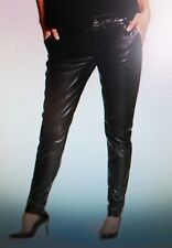 Guess Marciano Classic Black Luxury Lamb Leather Crop Pants India 8 NWT  $328