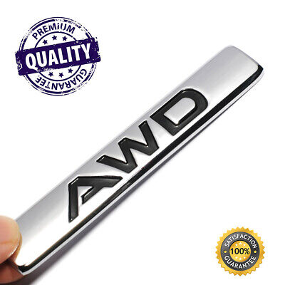 New 1 PIECE 3D Chrome Car 4WD Badge Metal Emblem Sticker For AWD cars and SUV #S
