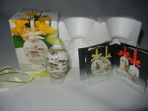 Hutschenreuther-the-Egg-Porcelain-Jahresei-Easter-1989-Meine-Pos-No-4-Boxed