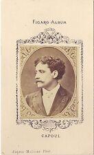 Victor Capoul ténor français Figaro-Album carte de visite albumine vers 1875