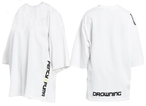 Puma X Rihanna Fenty Womens Short Sleeve Crew Neck T Shirt White 577271 01 Ua59 by Puma