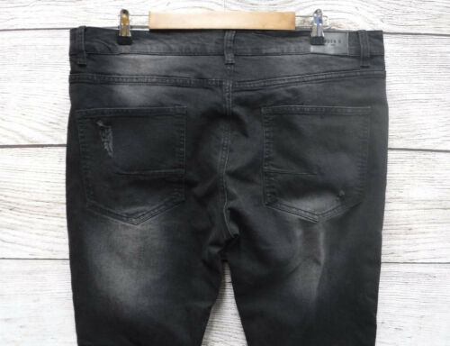 Kayden K Mens 30X32 Distressed Skinny Stretch Ribbed Side Jeans New Mis Tagged