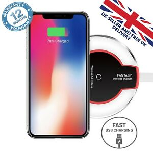 Qi-Wireless-Fast-Charger-Charging-Pad-For-iphone-Samsung-X-11-XS-8-S10-S9-S8-S7