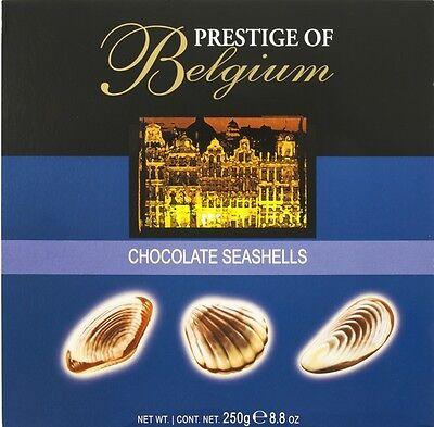 PRESTIGE OF BELGIUM CHOCOLATE SEASHELLS PRALINEN 250g SCHOKOLADE MUSCHELN