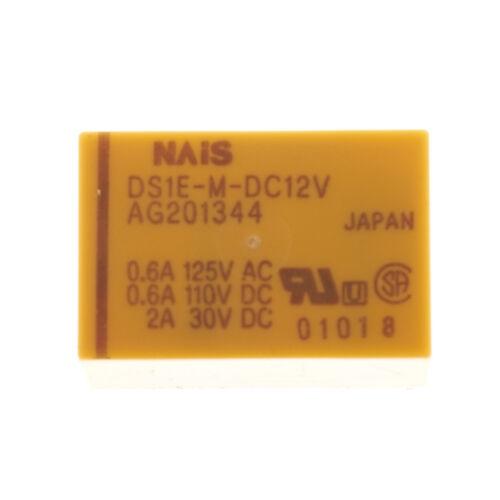NAiS DS1E-M-DC12V Monostabiles Relais Printrelais 12 VDC 2A 250V 5 Pin #701237