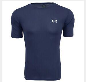 Under-Armour-Short-Sleeve-Shirt-Mens-Size-Medium-NEW-Athletic-Blue-NWT-Logo