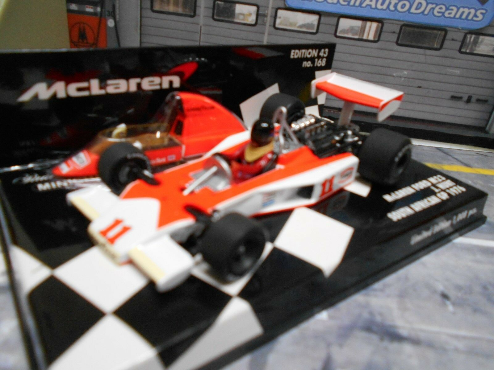 F1 McLaren Ford m23 Cosworth 1976 Hunt South Africa. Weltmeister Minichamps 1 43