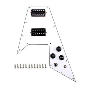 3-Ply-Prewired-Pickguard-Alnico-V-Humbucker-Pickups-for-Flying-V-Style-Guitar