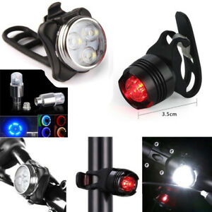 Bike-USB-Rechargeable-LED-Light-Bicycle-Front-Light-Tail-Light-Wheel-Light-Set