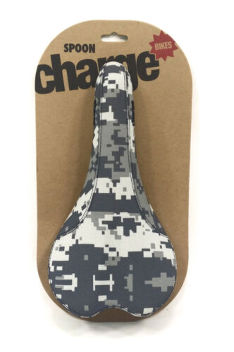 Charge Bikes Spoon Bicycle Saddle White Snow Digi Camo CrMo Rails Road Mountain
