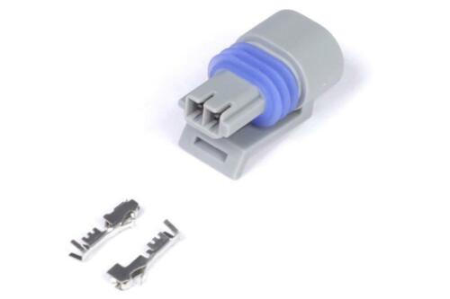 Haltech Plug and Pins Only  Delphi 2 Pin GM style Air Temp Connector Grey