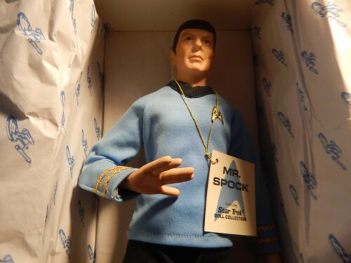 MR SPOCK  STAR TREK DOLL COLLECTION WITH CERTIFICATE OF AUTHENTICITY XX244XXX