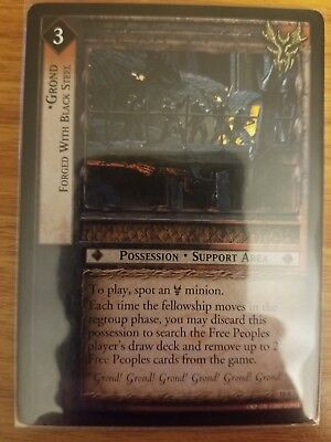 Forged with Black Steel LOTR Lord of the Rings TCG Treachery Deceit 18R82 Grond