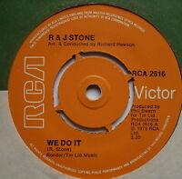 "R & J STONE - We Do It - Excellent Condition 7"" Single RCA 2616"