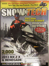 Snow Tech Magazine December 2012 Pro RMK Rev-XM Summit Which is Better?