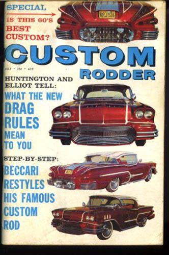 custom rodder magazine vtg July 1960 Hot Rod Drag Race Beccari 60's