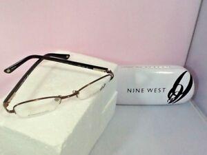 Nine-West-Women-Petite-Eyeglass-Frames-Case-NW441-OFJ1-Bronze-47-19-135-Half-Rim