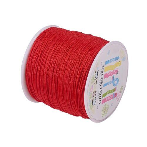 90m 0.8mm Nylon Beading String Knotting Cord Chinese Knotting Cord Nylon Cord