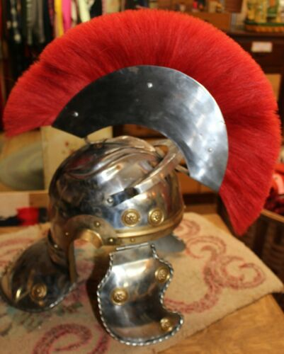 Vintage Medieval Gladiator Knight Metal Helmet Cos