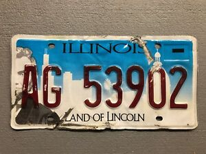 Details about ILLINOIS LICENSE PLATE LAND OF LINCOLN/ CHICAGO SKYLINE  AC7-6748