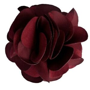 Pince A Cheveux Bibi Broche Grande Fleur Rouge Bordeaux Ceremonie