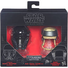 IMPERIAL DEATH TROOPER & REBEL COMMANDO DIECAST HELMETS STAR WARS BLACK SERIES