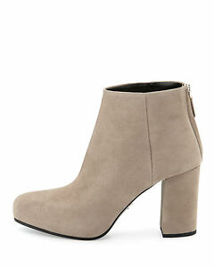 69a2abc4264 NEW PRADA Suede Platform Ankle Booties 85 mm Heels Boots Gray 39   9 ...