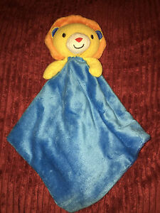 Lion-With-Blue-Baby-Comforter-Blankie-Dou-Dou-Beansprout