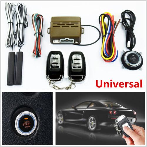 Car Smart Alarm System Key Passive Engine Start Keyless Entry Push Button Remote
