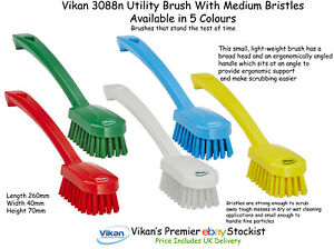Vikan 3088 Utility Sweep/Wash/Scr<wbr/>ub Brush Medium Bristles in 5 Colours 260mm
