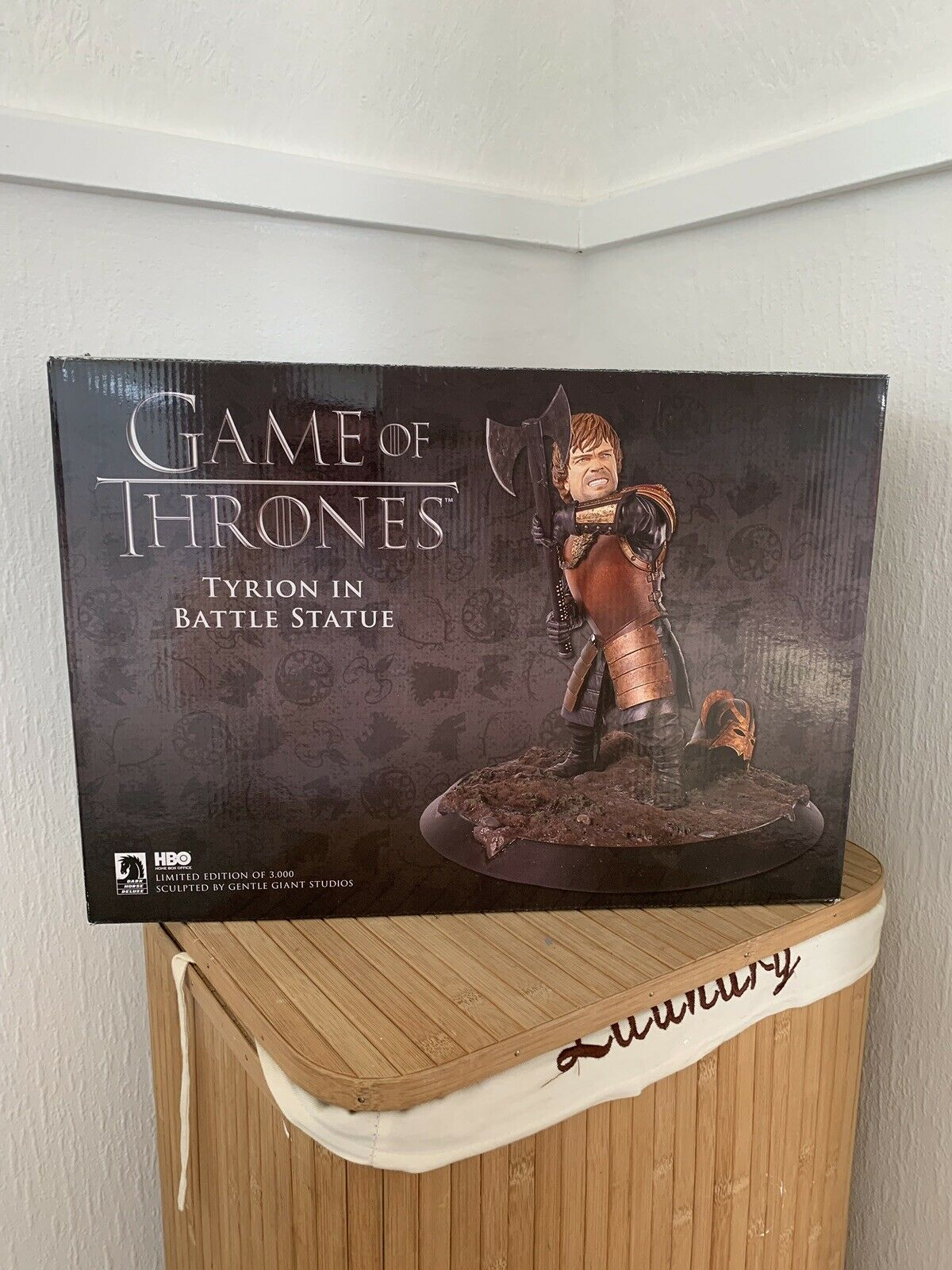 Dark Caballo Juego De Tronos Tyrion en batalla Estatua-Edición Limitada Nuevo
