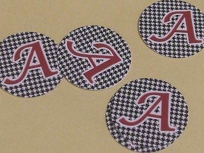 Pre Cut One Inch HOUNDSTOOTH ALABAMA BAMA Bottle Cap Images FREE SHIP
