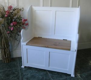 Awe Inspiring Details About Monks Bench Seat Childrens Toy Box Storage Pew Settle Shabby Chic Uwap Interior Chair Design Uwaporg